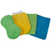 DET3-540 •4-piece combo: cleaning towel, wash mitt, glass towel, 2N1 sponge