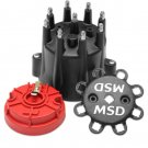 MSD84336 BLACK CHEVY V8 HEI DISTRIBUTOR CAP AND ROTOR