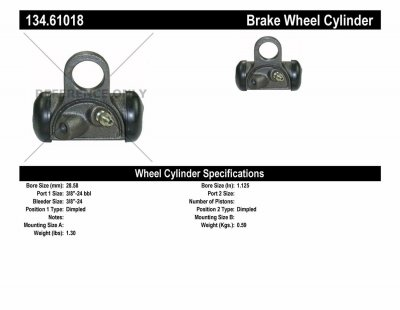 CEN134.61018 Drum Brake Wheel Cylinder FORD 1957 - 73