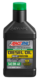 AMS-DZFQT Signature Series 0W-40 Max-Duty Synthetic Diesel Oil  Maximum-duty protection for your hardest-working diesel engines