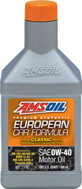AMS-EFOQT European Car Formula 0W-40 Classic ESP Synthetic Motor Oil