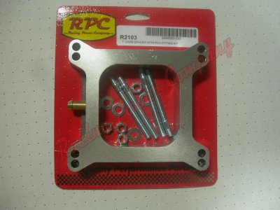 "RPCS2103 Holley 1"" Tall Carburetor Spacer with PCV Fitting (Gasket & Hardware Included)"