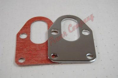 RPCS2310 Chrome Steel SB Chevy 283-400 Fuel Pump Mounting Plate with Gasket