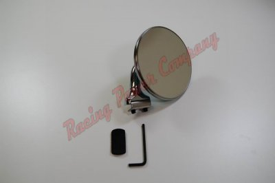"RPCS6610 Chrome 4"" Peep Mirror - Short Arm (Driver or Passenger)"