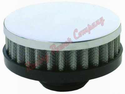 RPCS7192 Chrome Push-In Filter Breather - Short Style