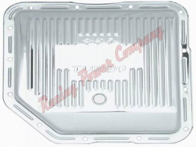 RPCS9122 Chrome GM Turbo 350 Transmission Pan - Finned