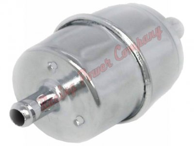 "RPCS9177 Chrome Fuel Filter - 3/8"" Inlet & Outlet"