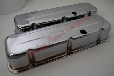 RPCS9235 Chrome 1965-95 Chevy V8 396-502 Tall Valve Cover - Baffled