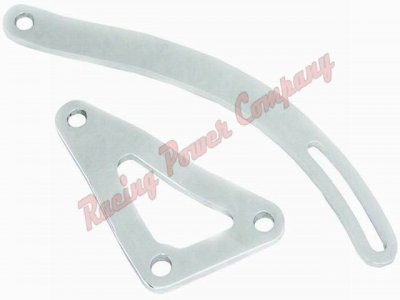 RPCS9456 Chrome Chrysler 318-340-360 Alternator Bracket Set