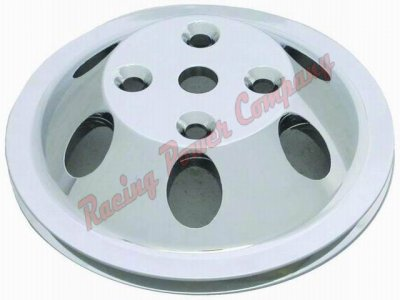RPCS9482 Aluminum SB Chevy V8 Single Groove Water Pump Pulley - LWP Upper