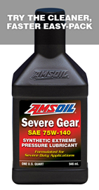AMS-SVOQT Severe Gear® 75W-140 For the severe operating conditions of today's hard working vehicles