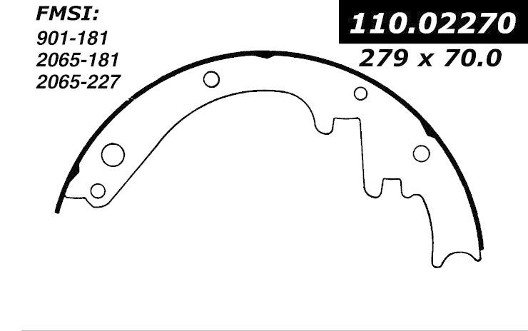 cen111 02270 broms band cen brake shoes-1959