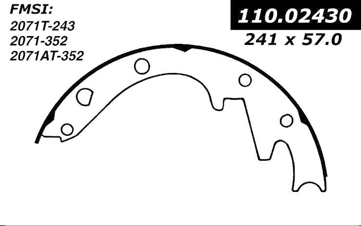 cen111 02430 broms band cen brake shoes-1948   am