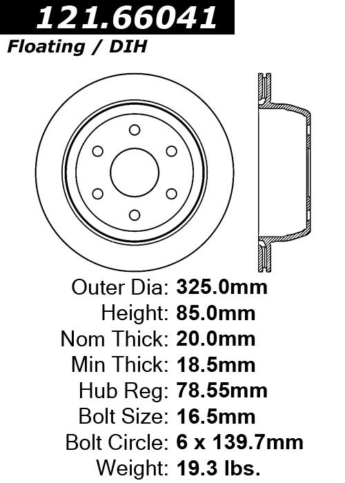 cen121 66041 standard brake rotor-1999   chevrolet  gmc    astro  avalanche 1500  safari