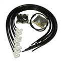 TAY75051 8mm Spiro-Pro Ignition Wire Set Spiro Wound Ceramic Boot Universal V8 90 deg. Black