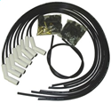 TAY75053 Ceramic Boot  Spiro-Pro Ignition Wire Set 8 cyl 135 deg Black.