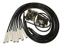 TAY75055 Ceramic Boot  Spiro-Pro Ignition Wire Set Universal Fit 8 cyl Black 180 deg.