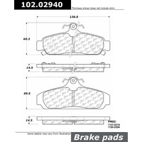 CEN102.02940 FRAM CTEK METALLIC BRAKE PADS-1984 - 1987 / CHEVROLET / CORVETTE