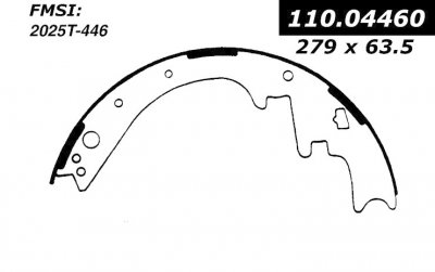 CEN110.04460 BROMS BAND        C-TEK BRAKE SHOES-1962 - 1997 / CHRYSLER, DODGE, PLYMOUTH / 330, 440, ASPEN, B100, B100 VAN, B150