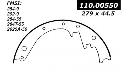 CEN111.00550 BROMS BAND        CEN BRAKE SHOES-1948 - 1973 / CHEVROLET, FORD, GMC, INTERNATIONAL, MERCURY / 100, 3A, 3B, 900A, 9