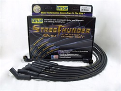 TAY51014  CADILLAC 1970 - 73 Street Thunder Ignition Wire Set Custom Fit 8 cyl. 8mm Black