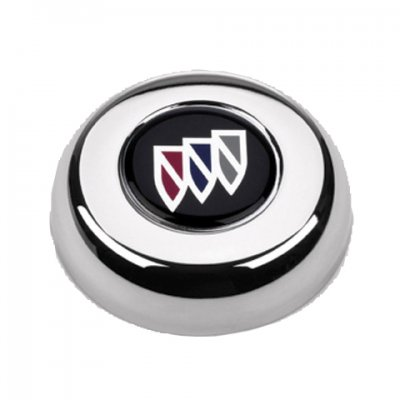 GRA5631 Grant Buick Classic or Challenger chrome horn button with Buick emblem.