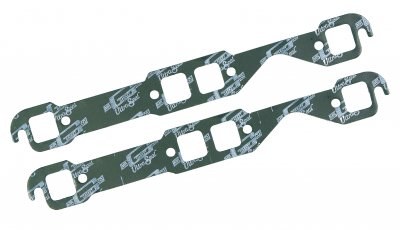 "MRG5916 Exhaust Gaskets - Small Block Chevy 1955-91 - Square Port - Ultra-Seal - 1.25"" x 1.30"" Ports"