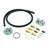 MRG7680 Oil Filter Relocation Kit - Single Filter - Small Block Chevy / Big Block Chevy / Inline 6 - w/Hardware Included