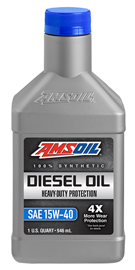 AMS-ADPQT Heavy-Duty Synthetic Diesel Oil 15W-40 Formulated for Exceptional Diesel Engine Protection 1 QT = 0.946 LITER