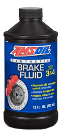 AMS-BFLVCN DOT 3 and DOT 4 Synthetic Brake Fluid Maximum ABS and traction-control performance