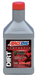 AMS-DB40QT 10W-40 Synthetic Dirt Bike Oil Designed to improve the performance of bike and rider.