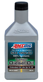 AMS-DMEQT Signature Series 15W-40 Max-Duty Synthetic Diesel Oil  Maximum-duty protection for your hardest-working diesel engines