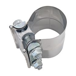 EXH692250 Exhaust Clamp, Band-Style, Lap Joint, 2.5 in. Diameter, 304 Stainless Steel,