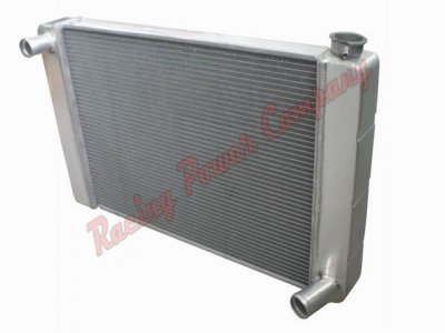 "RPCS1021 25"" SINGLE PASS UNIVERSAL ALUM CHEVY RADIATOR W/M HOLES"