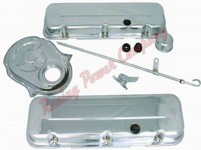 RPCS3027 Chrome BB Chevy Engine Dress-Up Kit - Short Valve Cover