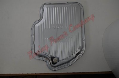 RPCS9121 Chrome GM Turbo 400 Transmission Pan - Finned