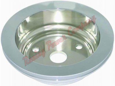 RPCS9484 Aluminum SB Chevy V8 Single Groove Crankshaft Pulley - LWP Lower