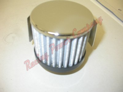 RPCS9516 Chrome Push-In Filter Breather with Shield