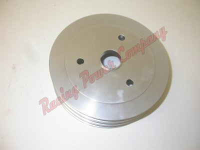 RPCS8858 Satin Aluminum SB Chevy V8 Triple Groove Pulley - SWP Lower