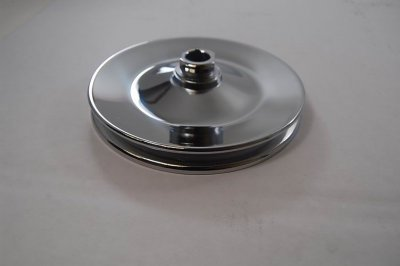 RPCS8948 Chrome early GM single groove power steering pump pulley