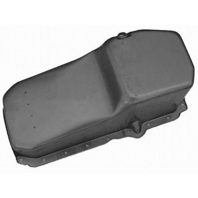 RPCS9414RAW Steel Stock Oil Pan, 1986-Up Small Block Chevy 283-400 V8
