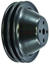 RPCS9605BK BLACK SB CHEVY 283-350 V8 DOUBLE GROOVE WATER PUMP PULLEY - LWP UPPER